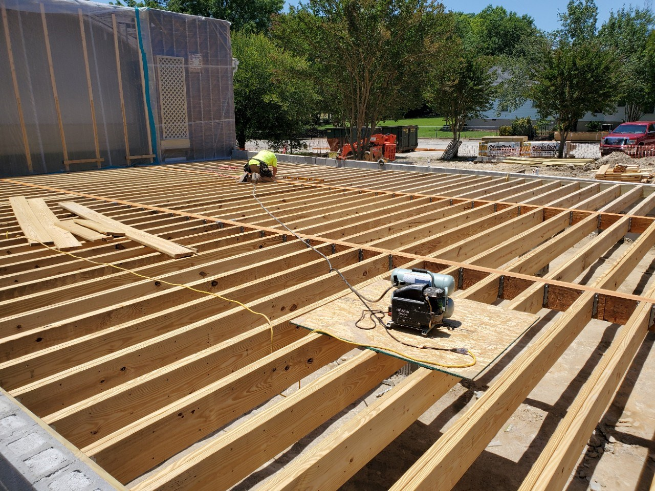 Church framework under construction