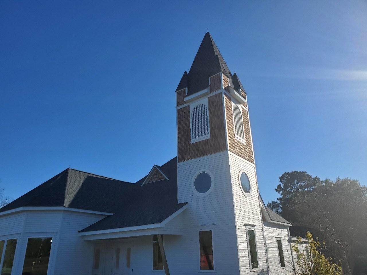 Church exterior on a sunny day