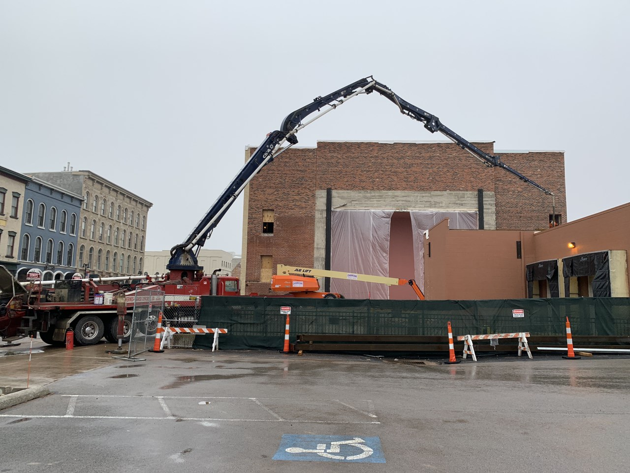 Theater exterior under construction